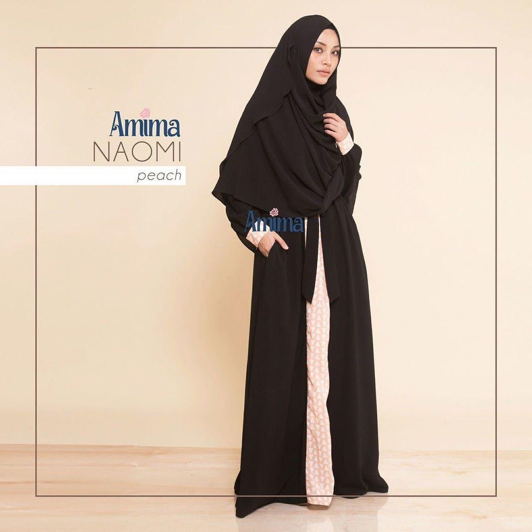Gamis Amima Naomi Dress Peach Baju Muslim Wanita Muslimah Untukmu Yg Cantik Syari Dan