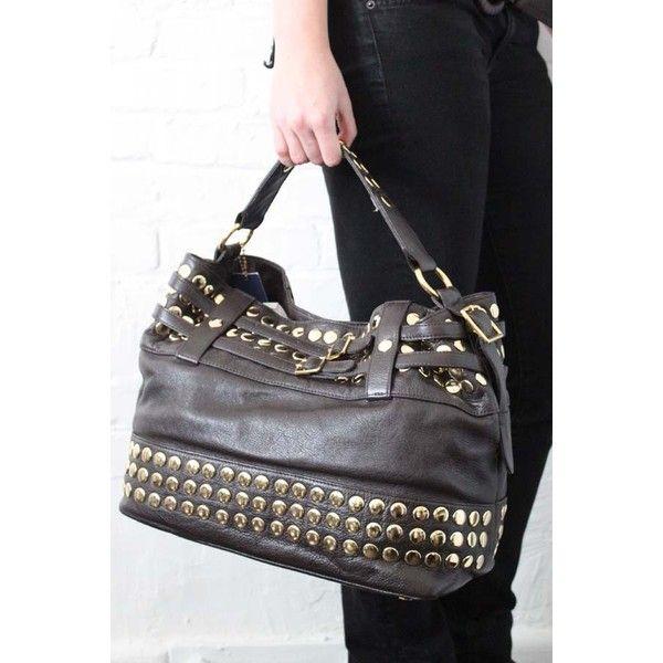 Rebecca Minkoff Stud Devote Bag in Brown Bear ($499) found on Polyvore