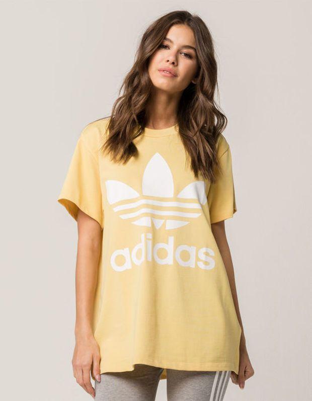 90c74f6584d ADIDAS Big Trefoil Womens Yellow Tee   wish list in 2019   Yellow ...