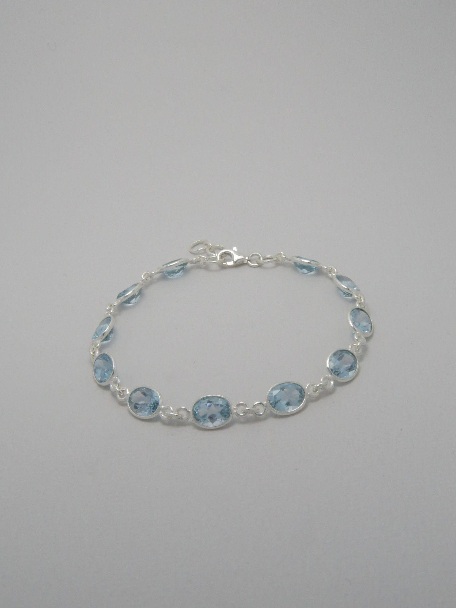 Sky Blue Topaz Sterling Silver Bracelet