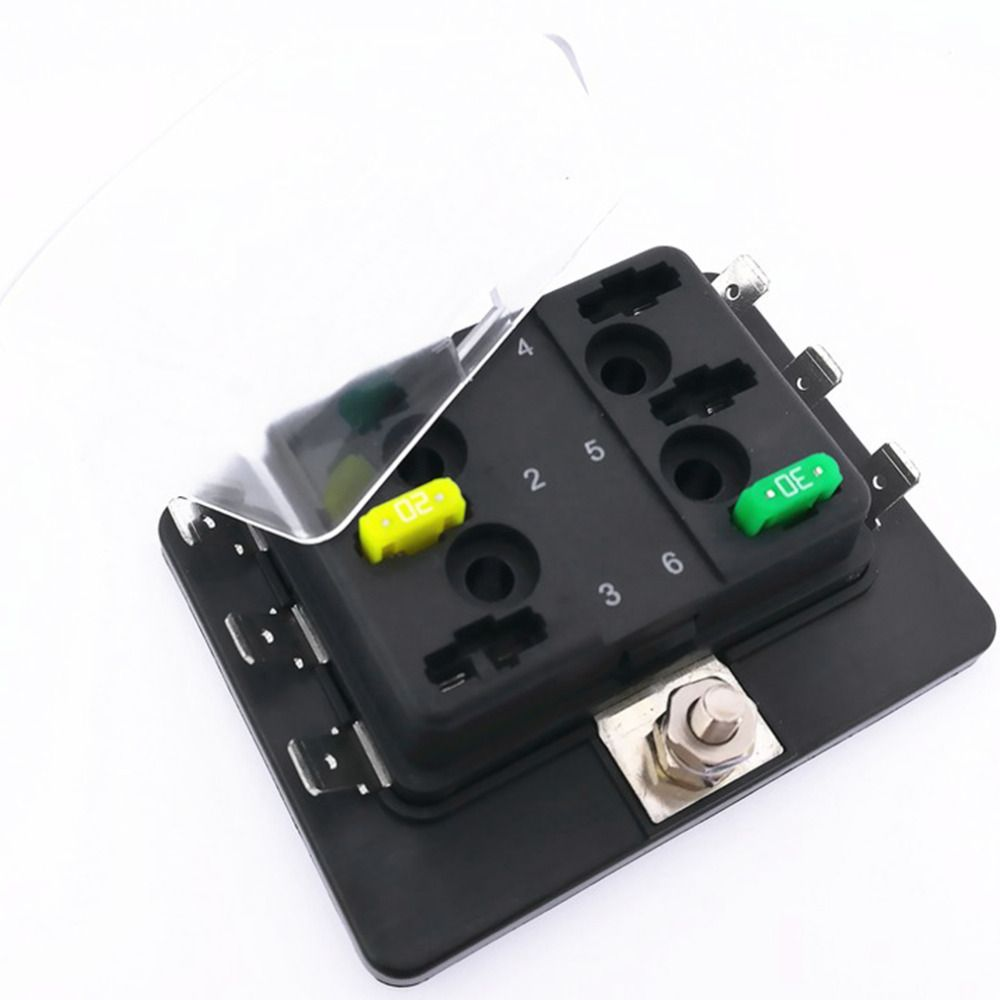 CATUO 6 Way Mini Blade Fuse Box Holder with LED Warning Light Kit for Car  Boat