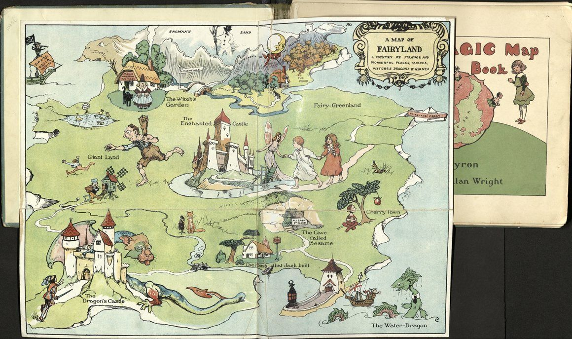 Em The Magic Map Book Em May Byron London C 1909 Pictorial Maps Vintage Maps Classic Literature