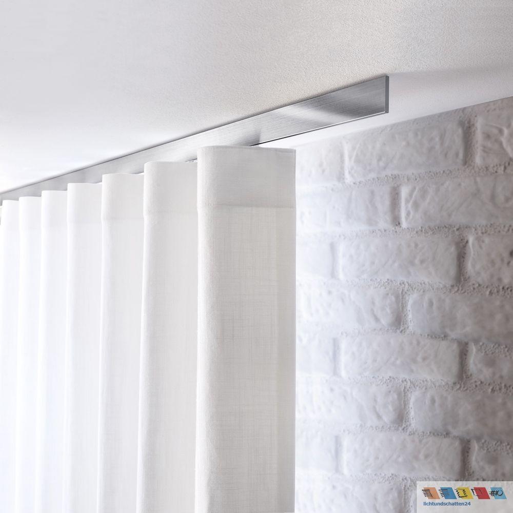 Interstil Flachprofil Vorhangstange Aluminium Vorhangschiene Fur