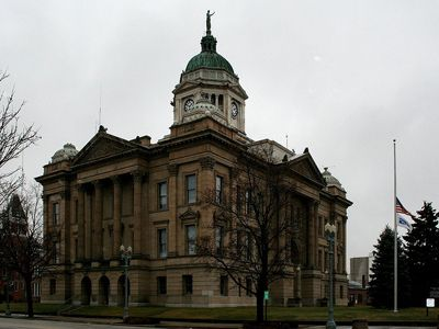 Wyandotte County Court House in Upper Sandusky Ohio is where the courtroom scenes were filmed during Andy's trial.