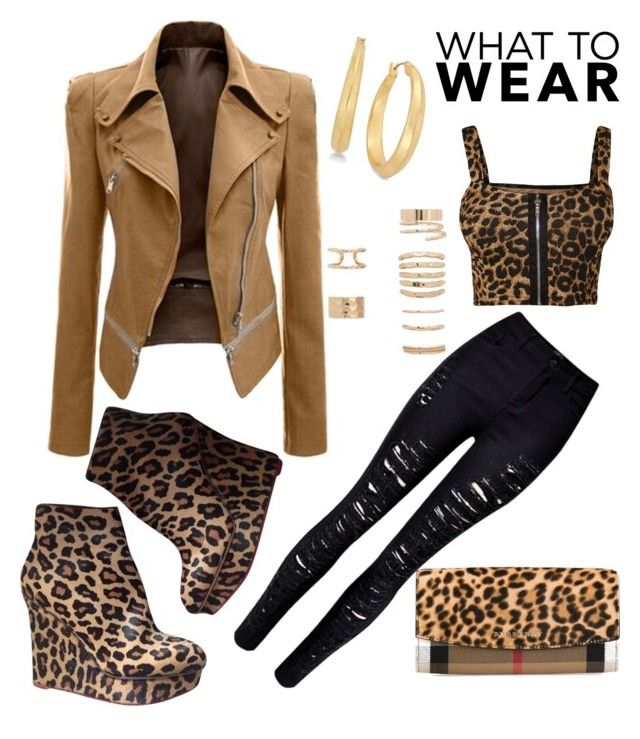 """""""What To Wear"""" by sweetyincago ❤ liked on Polyvore featuring Charlotte Olympia, WearAll, WithChic, Forever 21, Lauren Ralph Lauren and Burberry"""