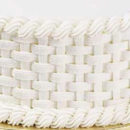 learn how to do basketweave to decorate cakes