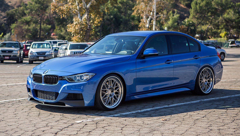 Bmw F30 estoril blue  HRE wheels  BMW F30  3 SERIES  Pinterest