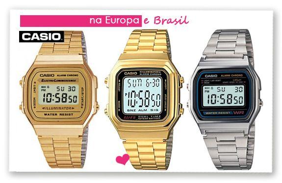 aecb1288888 Ponto Cor de Rosa  Trend Alert  Relógio Casio Vintage! Ou será Retrô ...