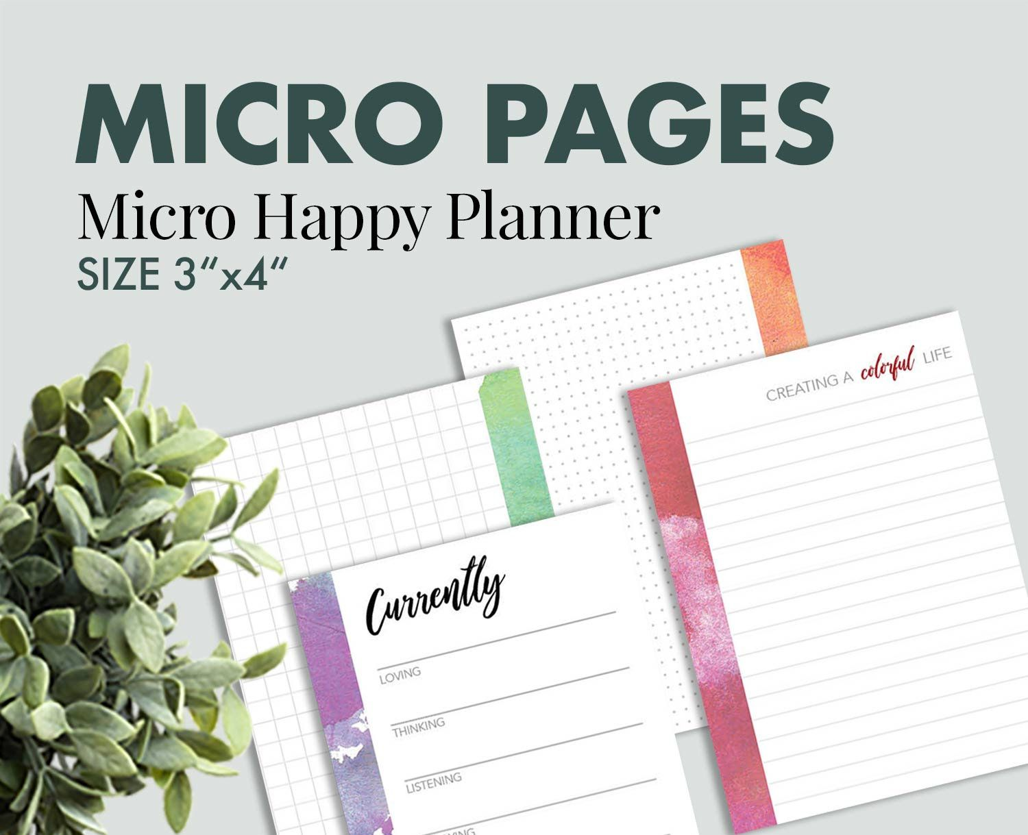 picture relating to Happy Planner Printable Inserts identified as Micro Content Planner Joyful Planner printable Planner