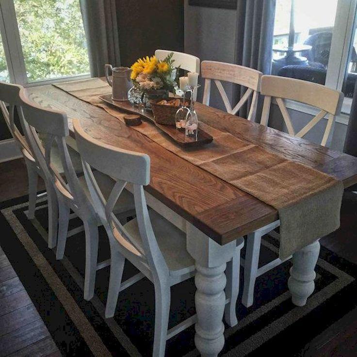 50 Modern Farmhouse Dining Room Decor Ideas (26
