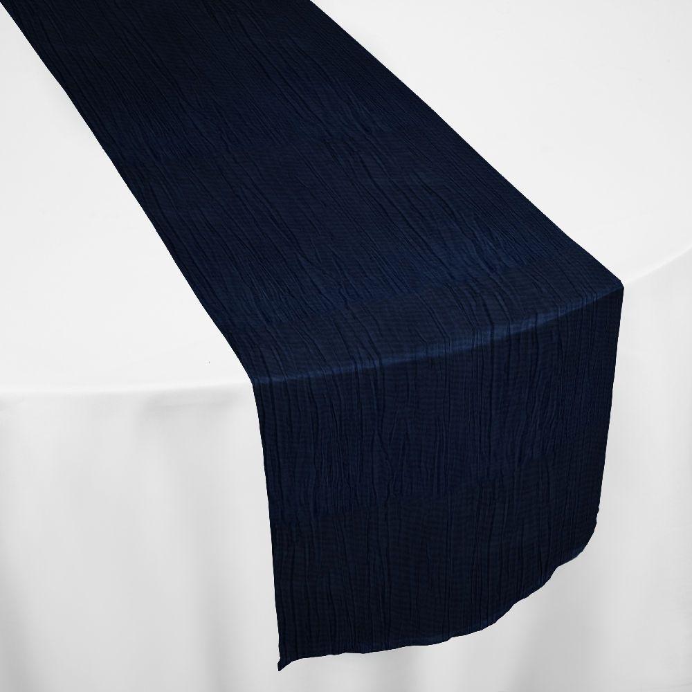 Nice Navy Crinkle Taffeta Table Runner By Chair Covers U0026 Linens