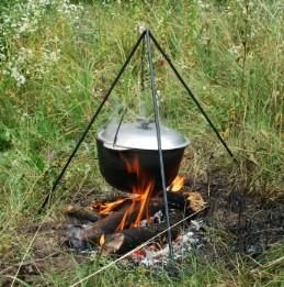 Outdoor Open Fire Cooking