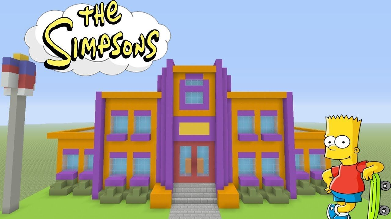 """Minecraft Tutorial: How To Make Springfield Elementary """"The"""