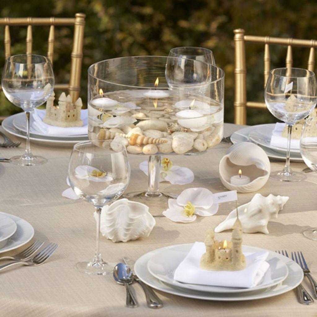 Beach Wedding Table Centerpieces Ideas Beach wedding