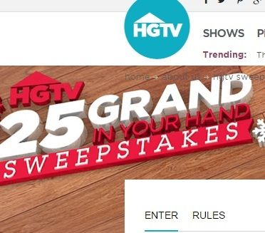 The All New 25 Grand In Your Hand Sweepstakes Hgtv You Could Win Some Serious Cash This Holiday Season Win 25 000 Win Big Time Sweepstakes Grands Hgtv