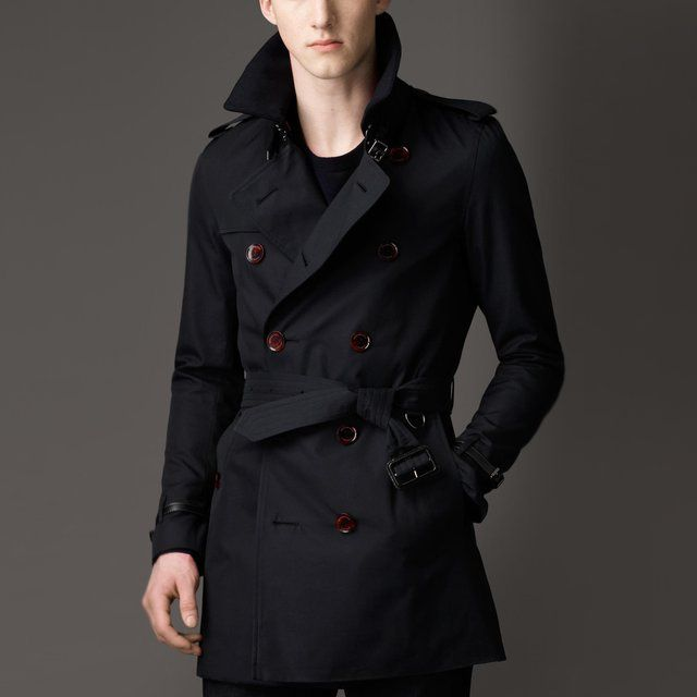 Mid-Length Cotton Gabardine Trench Coat by Burberry