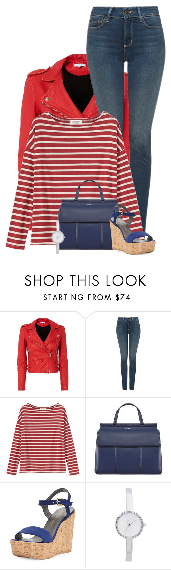 """13"" by divacrafts ❤ liked on Polyvore featuring IRO, NYDJ, Toast, Tory Burch, Stuart Weitzman, DKNY and Original"