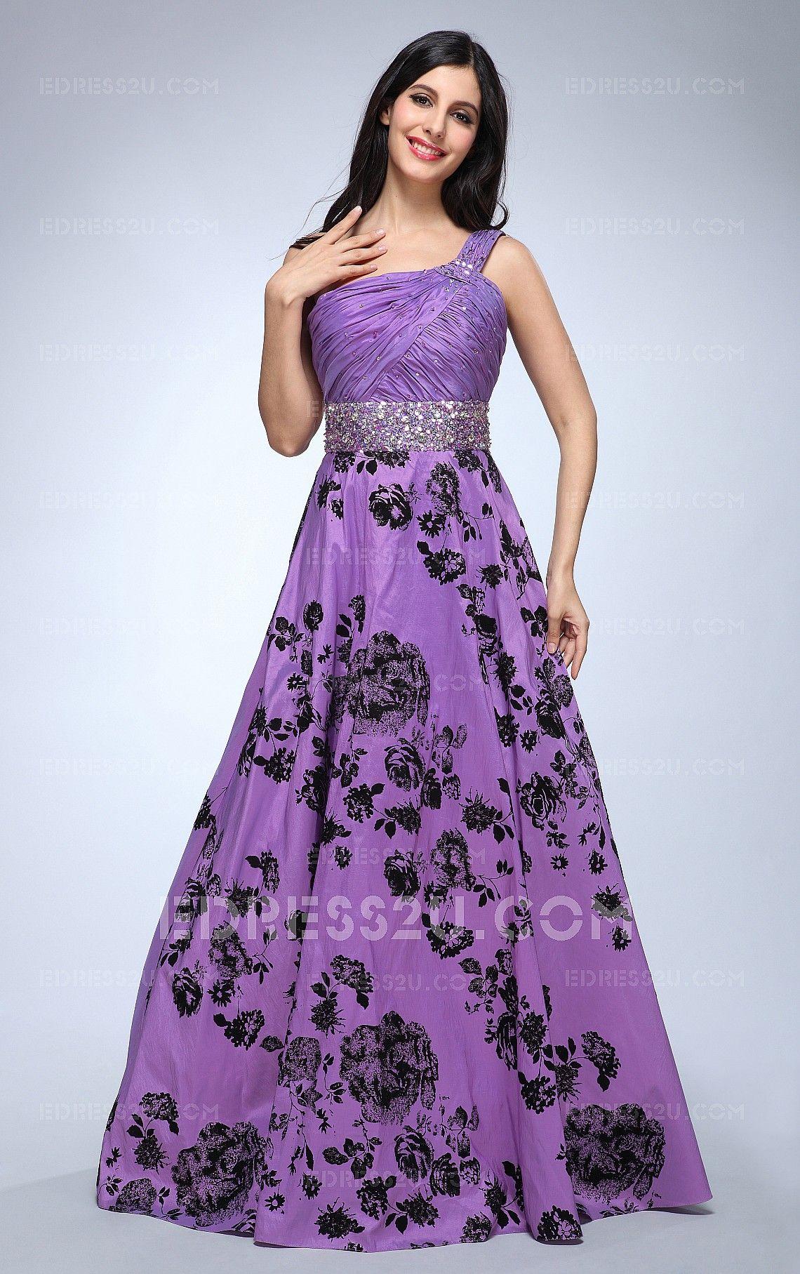 purple sweet 16 dresses long and flowy | ... line One Shoulder Floor ...