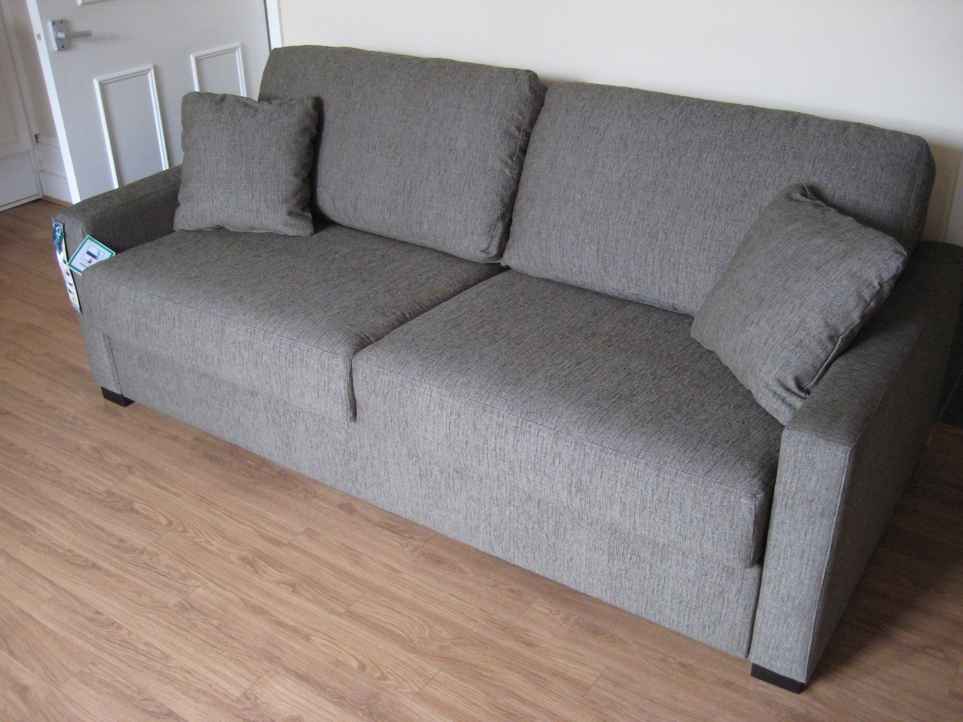 Ash Sofa Bed In Grey Brown Washable Fabric From The Supplier Contains A 160 Cm X 195 Cm Bonnel Reflex Foam Mattress For Reg With Images Sofa Sofa Bed Sofa Bed With Chaise