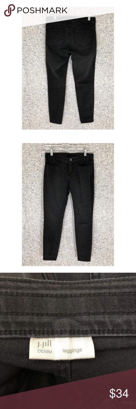 1cd56a4ad8cd7 J.Jill Stretch Leggings Jeans • 4 Petite #258 J.Jill Black Leggings ...