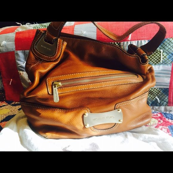 Authentic Mk Leather Purse Closet Clean Out Beautiful Vintage Micgael Kors With Dust Bag Handles Show Some Wear
