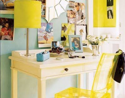 Blue And Yellow Office
