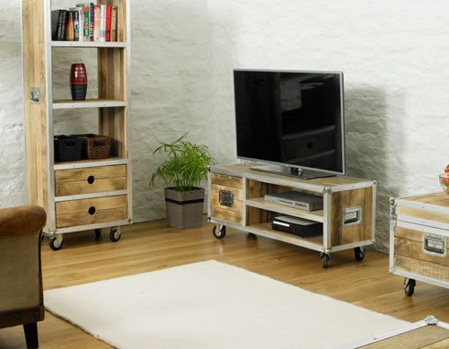 Tv Dvd Meubel.Kadans Widescreen Tv Cabinet With Cupboard Fully Assembled On