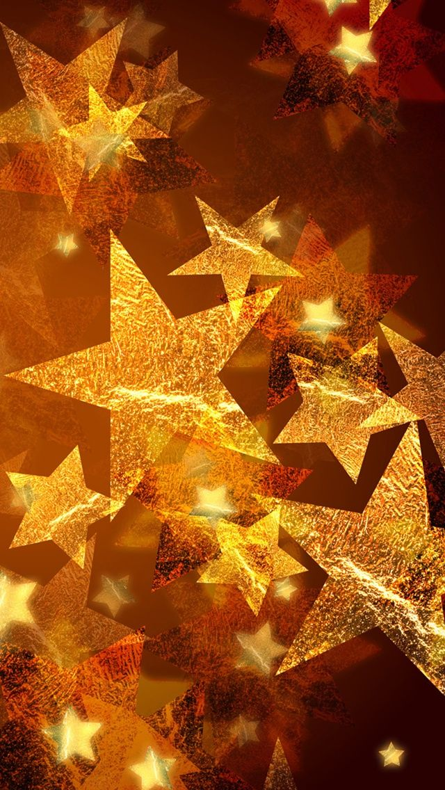 Golden Christmas Stars Iphone Android Mobile Wallpaper Christmas Wallpaper Iphone Wallpaper Hd Wallpaper Iphone