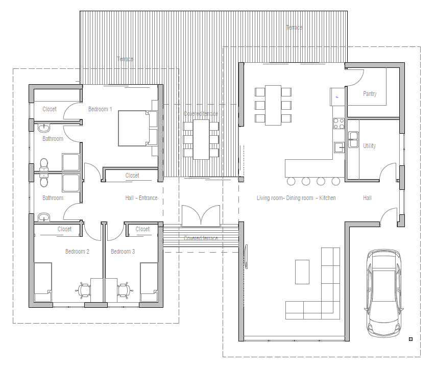 Three Rooms Apartment With A Big Modern Kitchen: The Left Side, Entry And Deck Area Is Almost Perfect, But