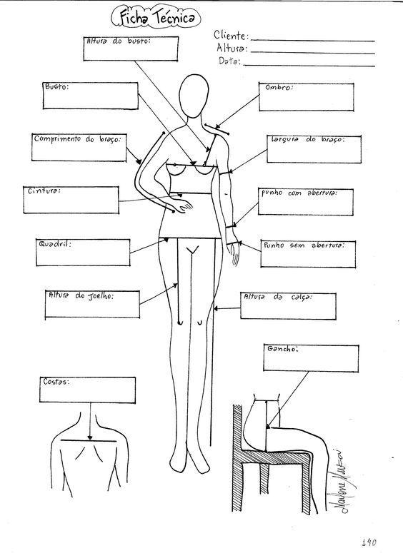 Ficha Técnica da Cliente | molde, corte e costura – Marlene Mukai ...