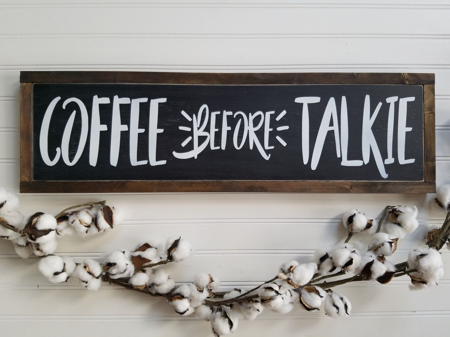 Coffee Signs Kitchen Decor Kitchen Sign Coffee Before Talkie Coffee Sign Housewarming Gift