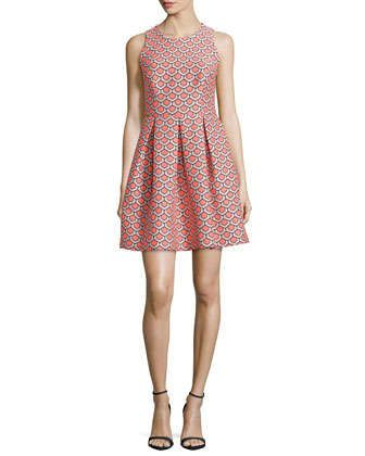 Sleeveless Petal Jacquard Shift Dress by Trina Turk at Neiman Marcus.