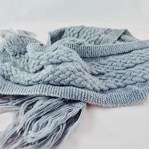 Écharpe mixte ,grise laine et alpaga,tricot main,belfast   Toutes ... 8e87592b245