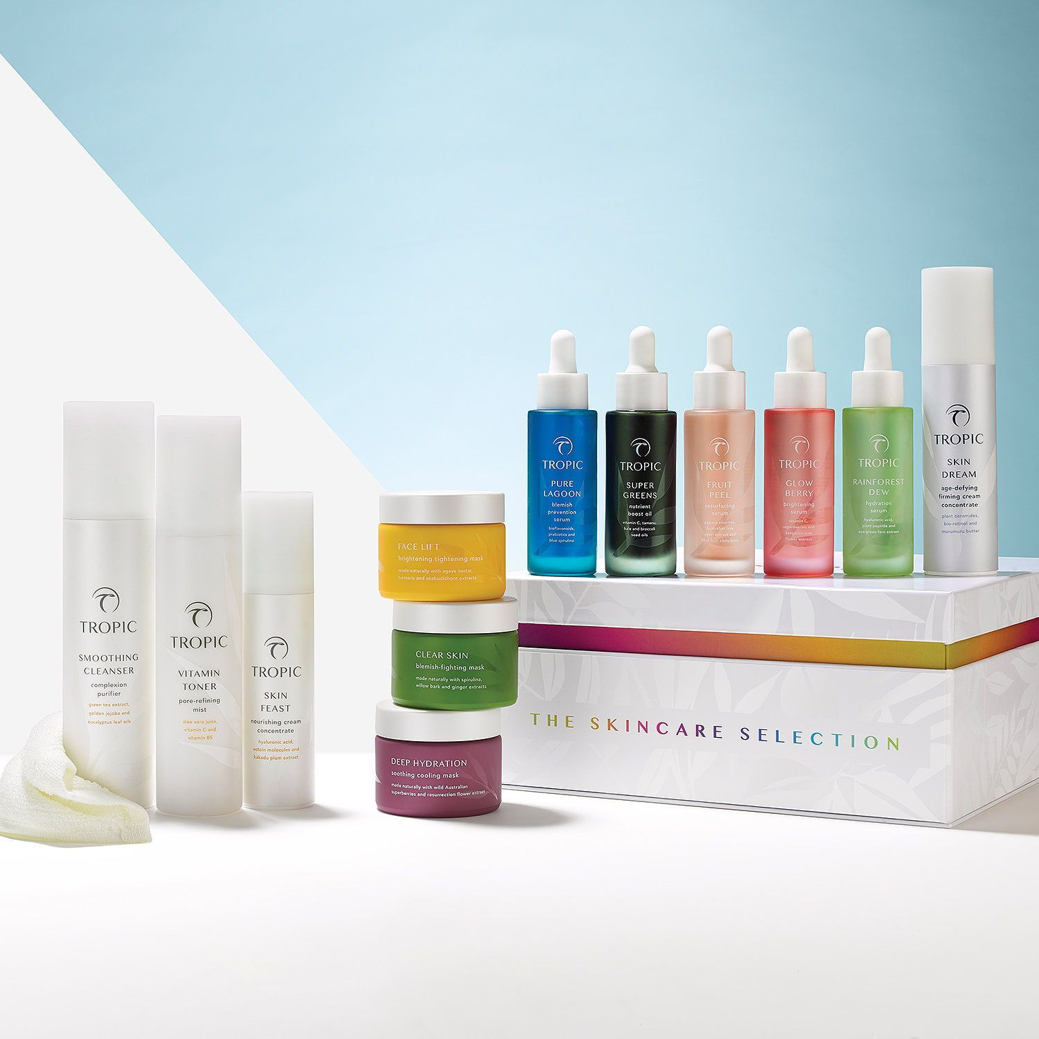 Build Your Own Skincare Selection By Tropic Choose One Of Three Carefully Curated Collections To Enjoy Our Best Tropic Skincare Skin Care Perfect Skin Routine