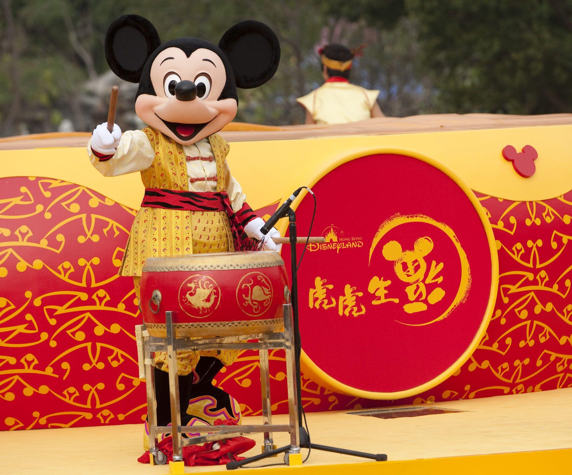 Drum Rolls Begin At Hong Kong Disneyland For The Chinese New Year S Celebration Hong Kong Disneyland Disneyland Disney Theme Parks