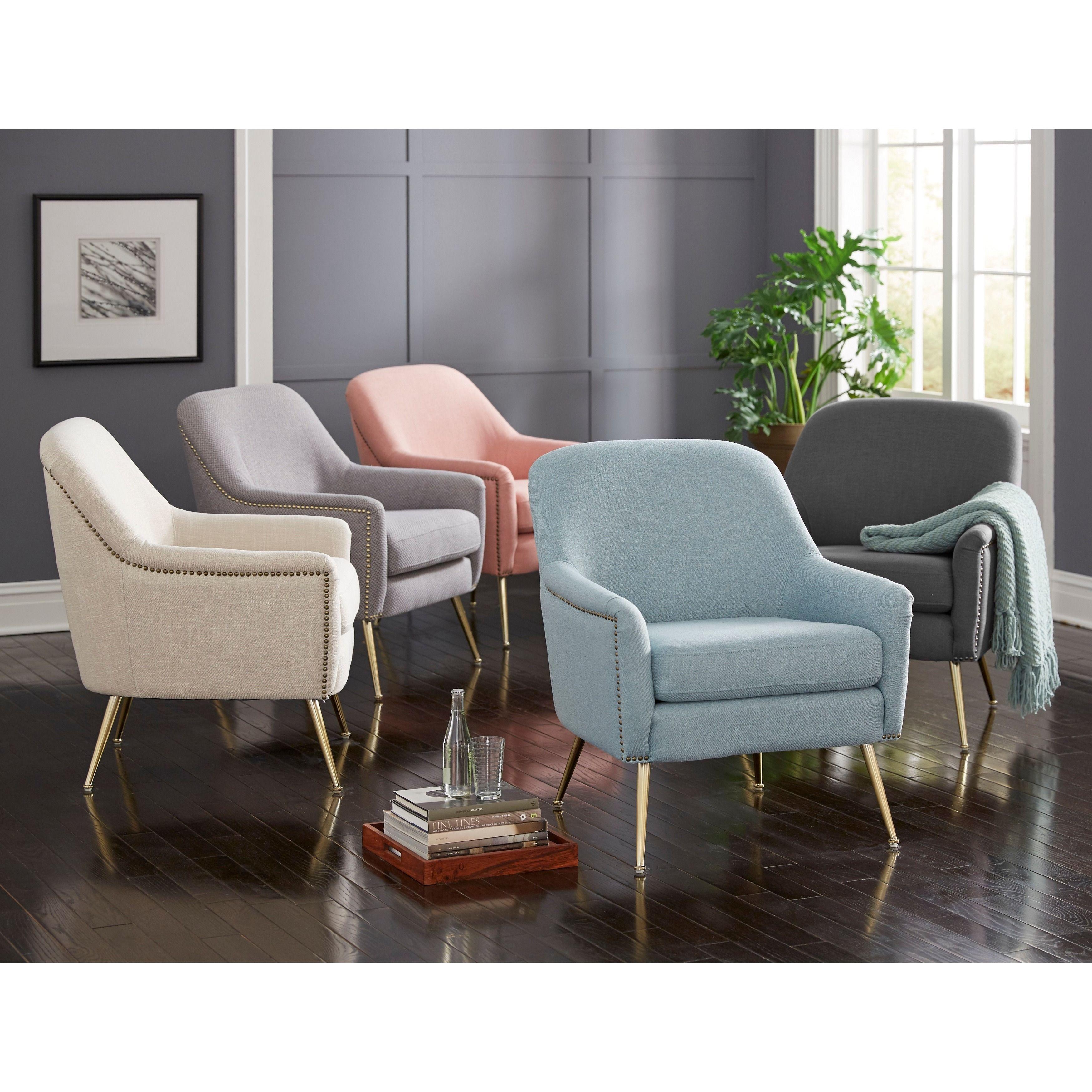Pleasing Lifestorey Vita Accent Chair Blue Fabric In 2019 Machost Co Dining Chair Design Ideas Machostcouk