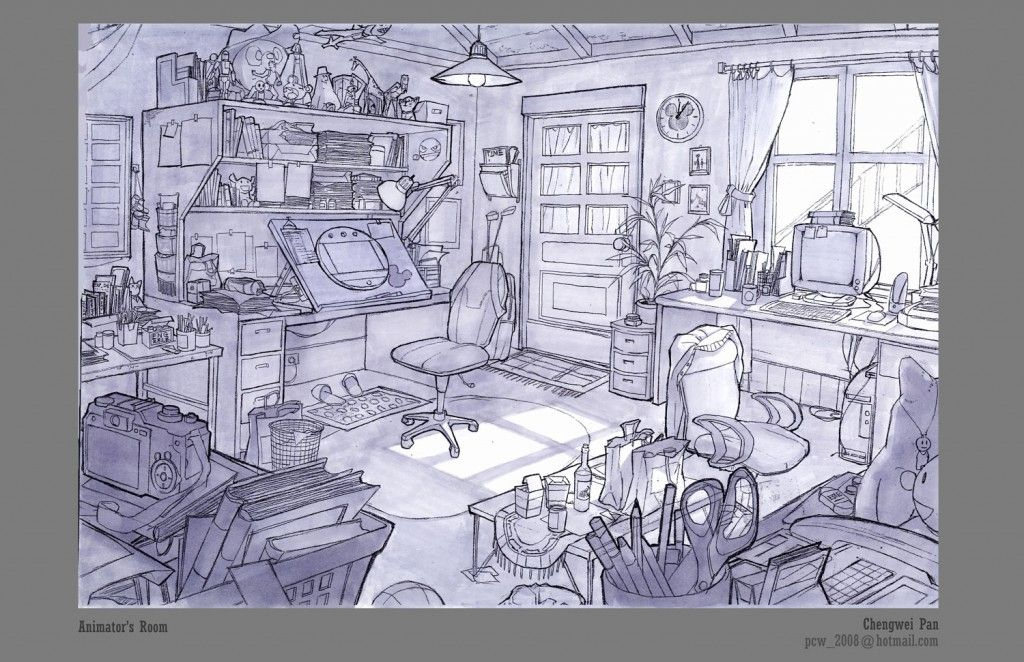 Chengweipanlayout3 Concept Art Drawing Environment Sketch Perspective Art