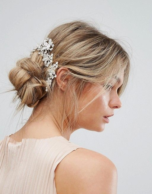 New Look Jewelled Hair Slides Wedding Accessories Updo Hairstyles