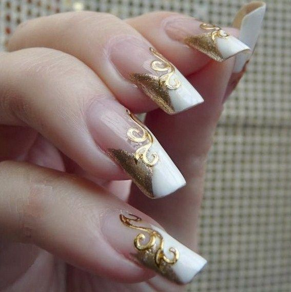 Christmas French Nails Designs