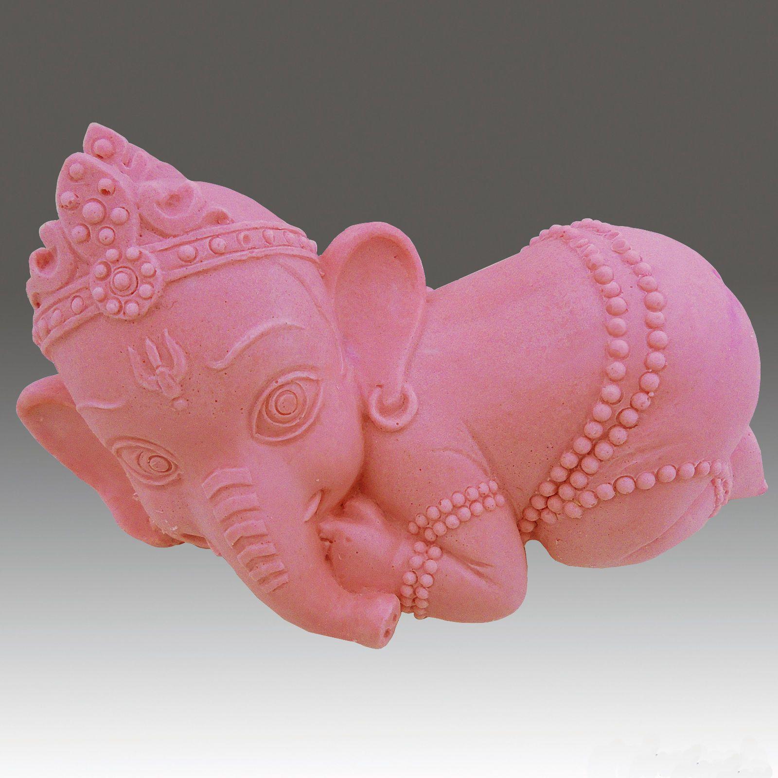 Ganesha Baby Sucking Finger- Detail of high relief sculpture