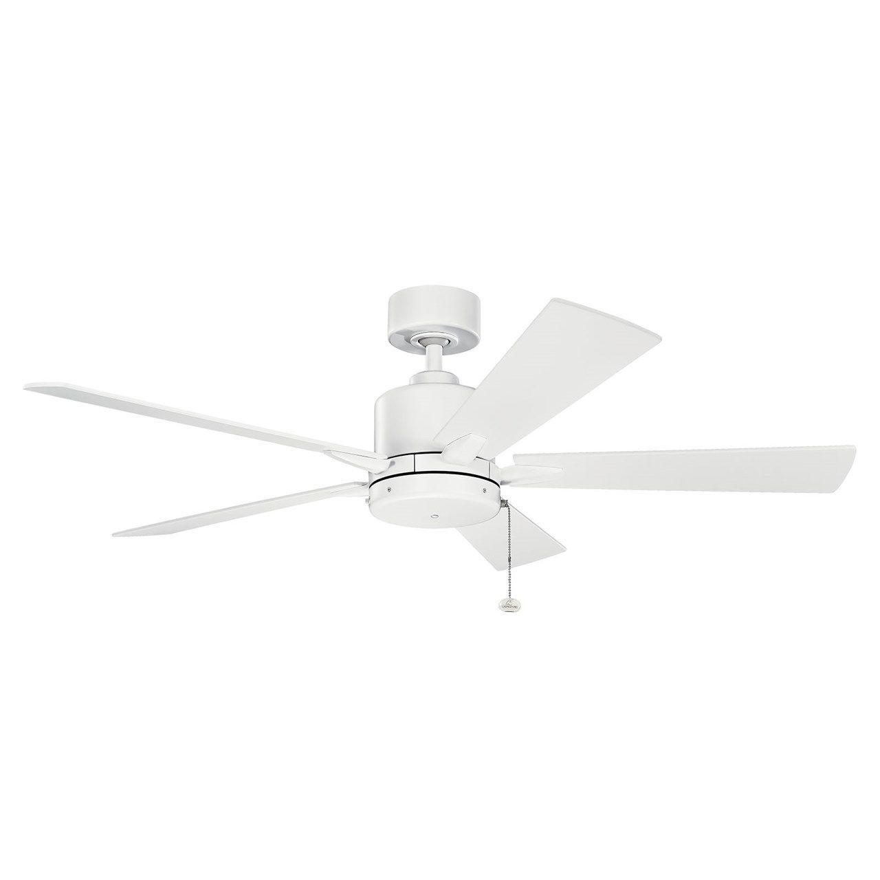 Bowen 52 Fan Matte White Kichler Lighting Ceiling Fans Without Lights Ceiling Fan White Ceiling Fan