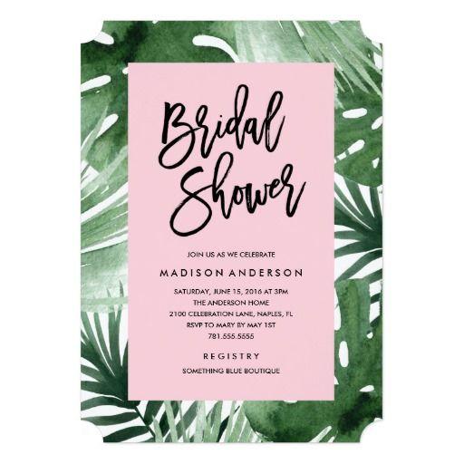 Tropics Bridal Shower Invitation Shower invitations Bridal