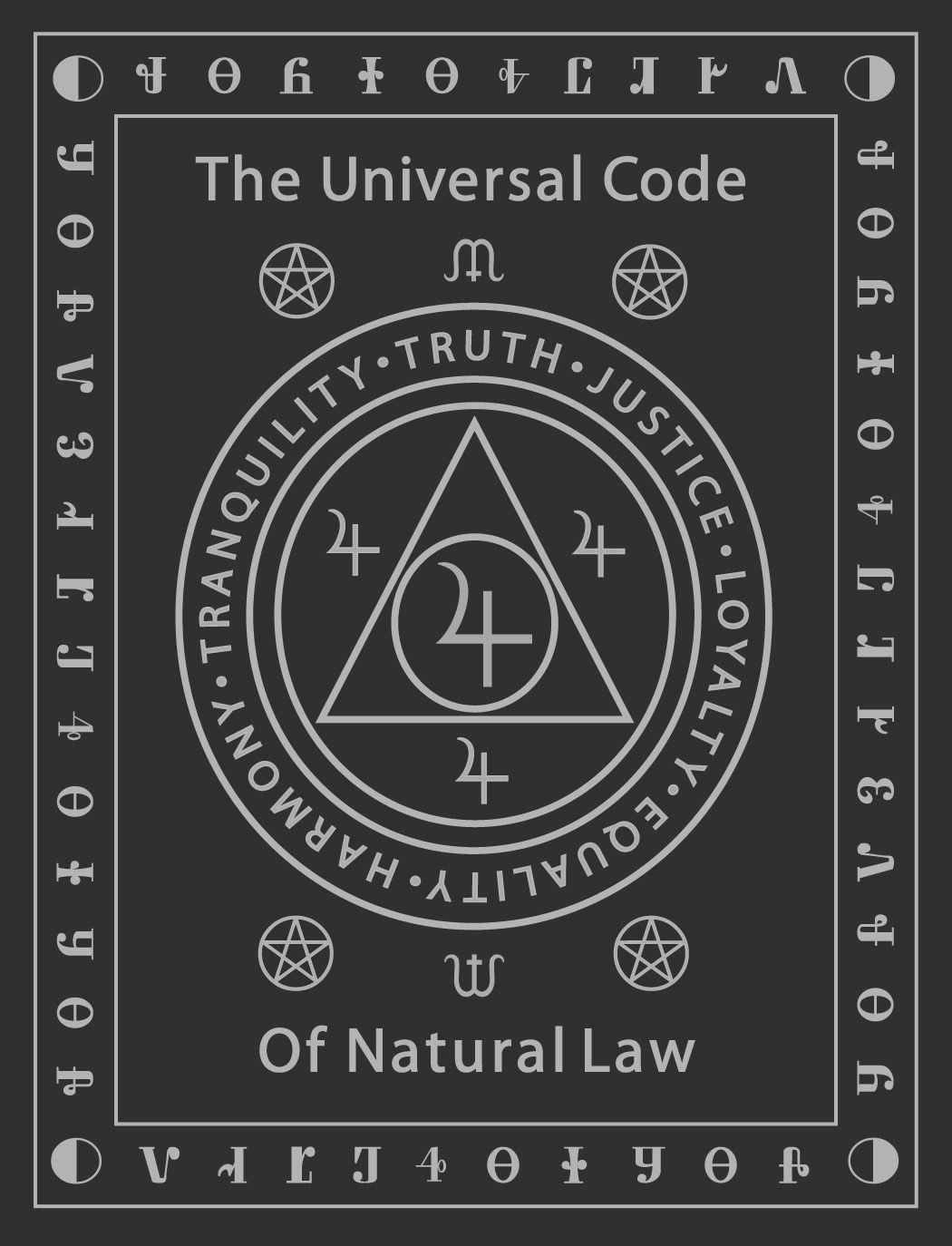 Universal Code Of Natural Law Occult Symbols Alchemy Symbols Magick Book