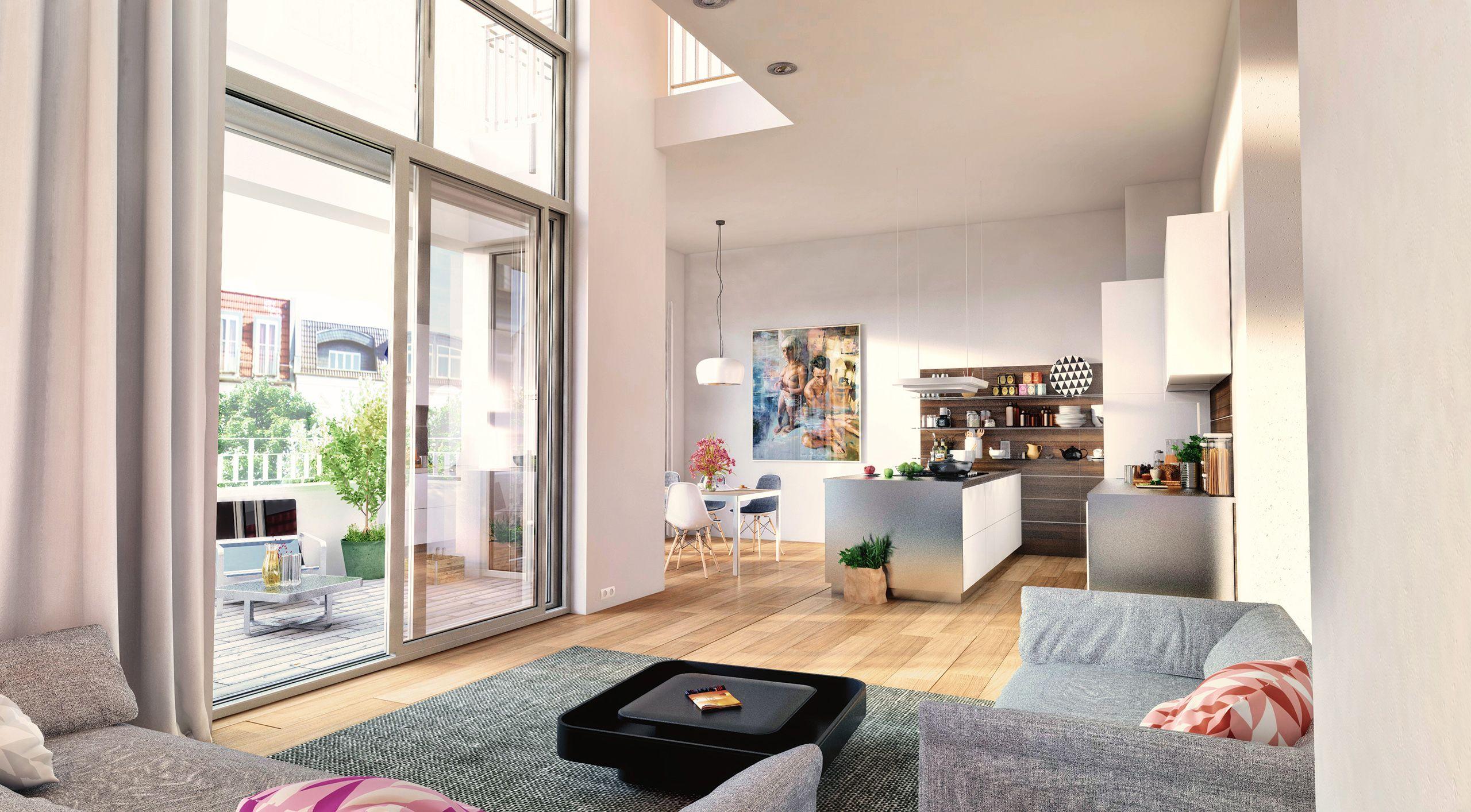 Architekturvisualisierung Berlin interior berlin loft charlottenburg joachim friedrich straße