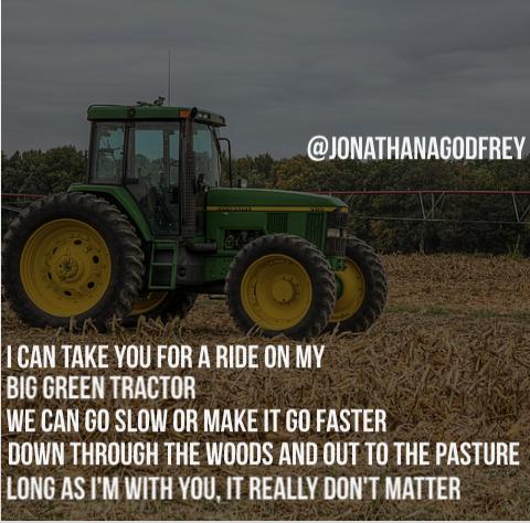 Big Green Tractor Jason Aldean Country Song Lyrics Green
