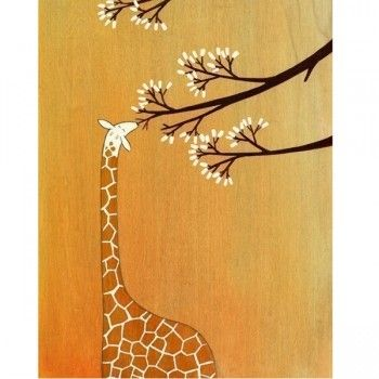 Handmade Gifts | Independent Design | Vintage Goods Giraffes, Too, Like Marshmallows Print - I love nature