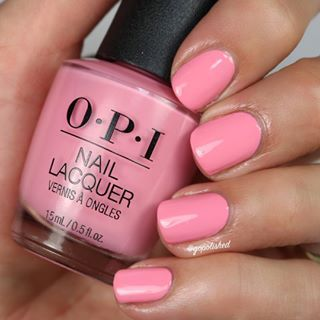 6ec4e735e  Pink Ladies Rule The School  from the ✨new✨ opi Grease Collection is a  medium blue toned pink. Not totally original but undoubtedly beautiful.