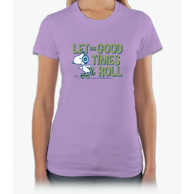 Snoopy Skate Short Sleeve Women T-Shirt