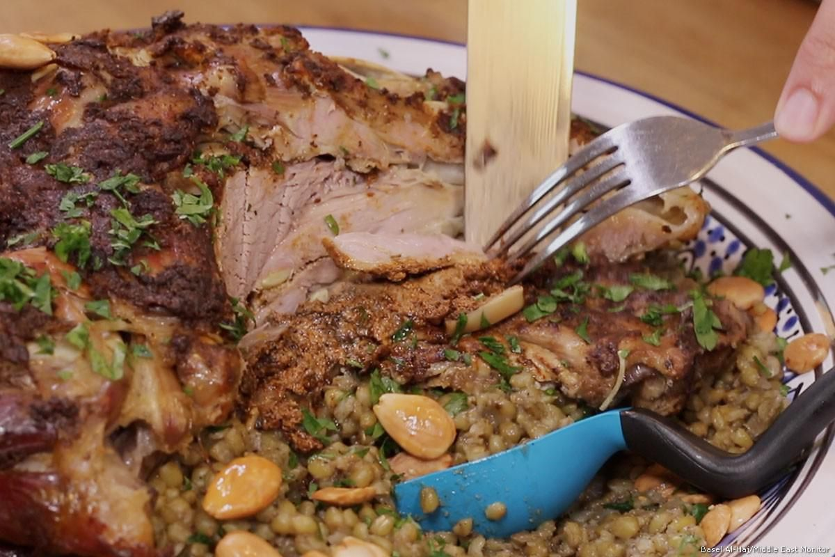 Roasted Lamb Shoulder Over Freekeh Mediterranean Recipes