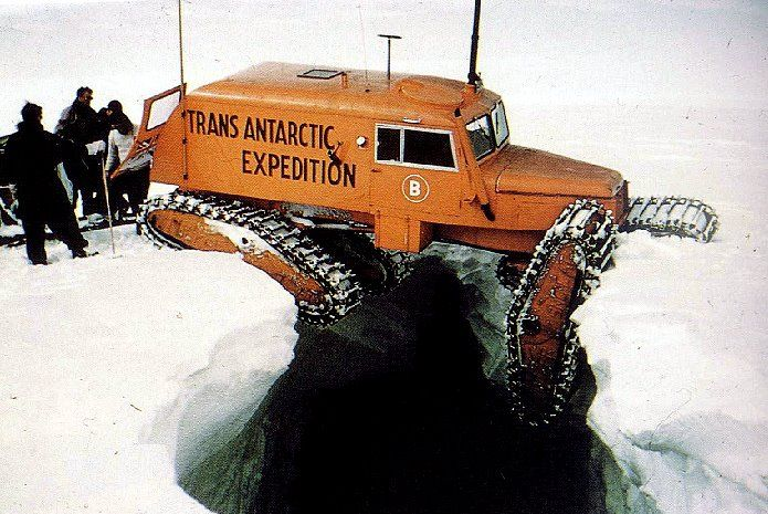 Just A Car Guy : Trans Antarctic Expedition, getting stuck a